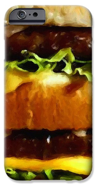 Big Mac - Painterly iPhone Case by Wingsdomain Art and Photography