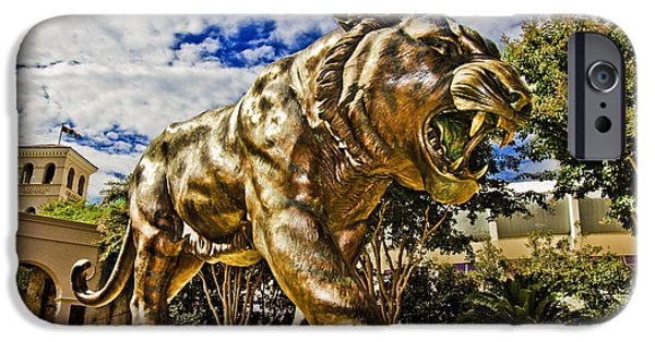 Mike The Tiger iPhone Cases - Big Mike iPhone Case by Scott Pellegrin
