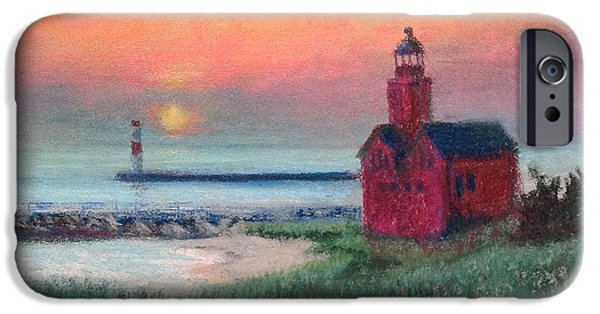 Chicago Paintings iPhone Cases - Big Red iPhone Case by Mary Marin