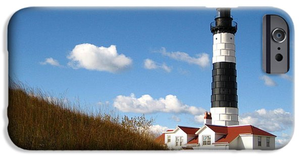 Historic Site iPhone Cases - Big Sable Point Lighthouse iPhone Case by Cindy Kellogg