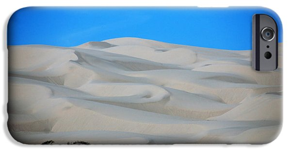 Nature Scene iPhone Cases - Big Sand Dunes in CA iPhone Case by Susanne Van Hulst
