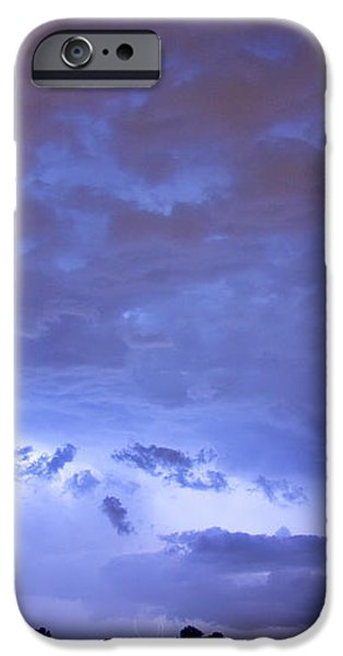 Big sky with small lightning strikes in the distance iPhone Case by James BO  Insogna