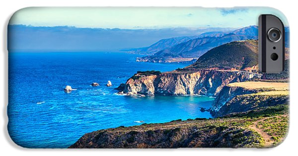 States iPhone Cases - Big Sur Beauty iPhone Case by Joseph S Giacalone