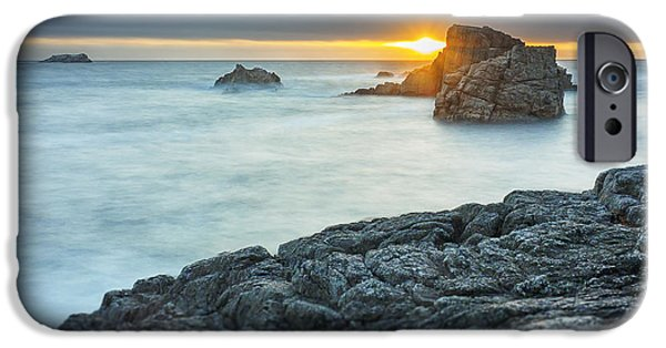 Recently Sold -  - Ocean Sunset iPhone Cases - Big Sur Seascape iPhone Case by Steve Spiliotopoulos
