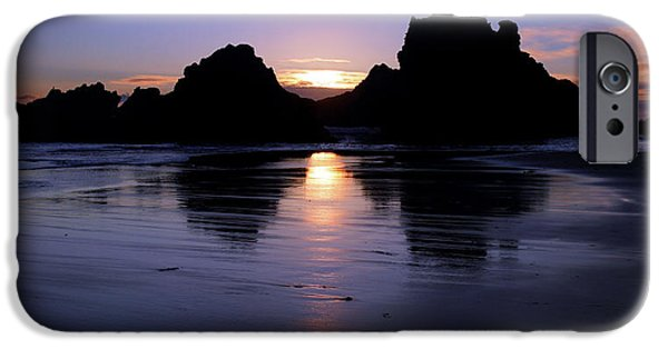 Pfeiffer Beach iPhone Cases - Big Sur Sunset iPhone Case by Pierre Leclerc Photography