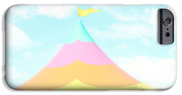 Pastel iPhone Cases - Big Top in the Sky iPhone Case by Amy Tyler