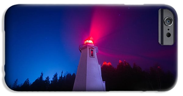 Fog Mist iPhone Cases - Big Tub Lighthouse in the Fog  iPhone Case by Cale Best