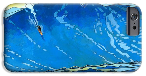 Storm Paintings iPhone Cases - Big Wave iPhone Case by Douglas Simonson