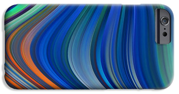 Abstract Digital Photographs iPhone Cases - Big Waves iPhone Case by Ken Smith