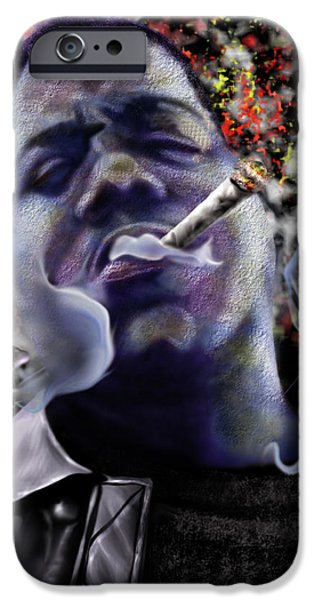Small iPhone Cases - Biggie - Burning Lights 5 iPhone Case by Reggie Duffie
