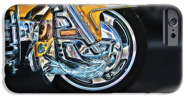 Asphalt iPhone Cases - Bike iPhone Case by Maria Coulson