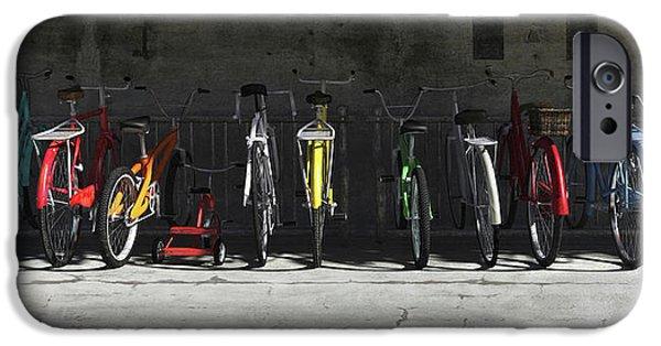 Spectrum iPhone Cases - Bike Rack iPhone Case by Cynthia Decker