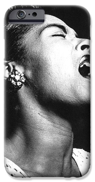 Earrings iPhone Cases - Billie Holiday (1915-1959) iPhone Case by Granger