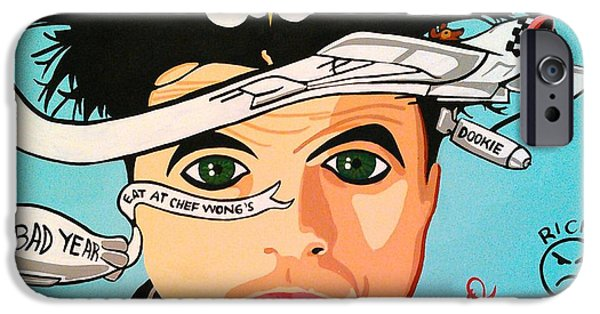 Green Day Paintings iPhone Cases - Billie Joe Dookied iPhone Case by Christina Turner