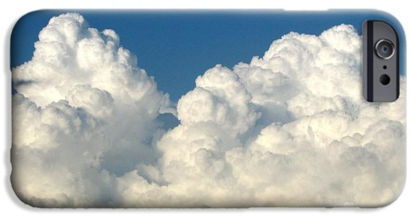 Artists4god iPhone Cases - Billowing Clouds 1 iPhone Case by Rose Santuci-Sofranko