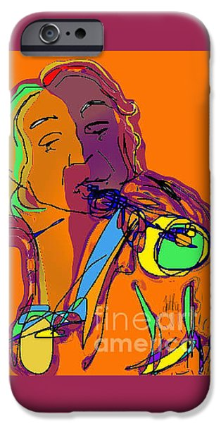 Abstract Expressionism iPhone Cases - Billy iPhone Case by Anthe Capitan-Valais