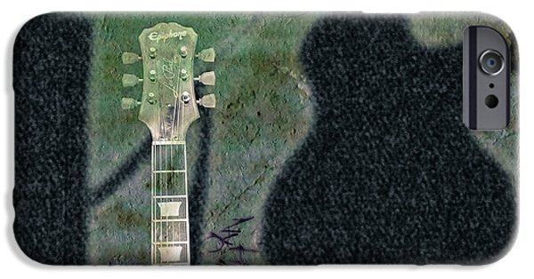 Epiphone Guitar iPhone Cases - Billys Room  iPhone Case by Steven  Digman