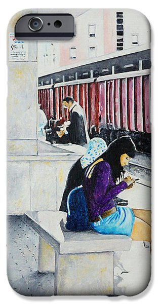 Figures iPhone Cases - Binario due iPhone Case by Bidde