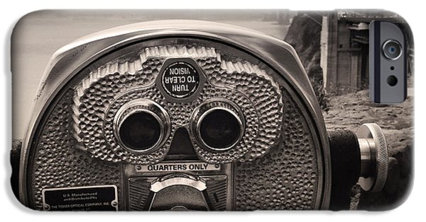 Operating iPhone Cases - Binoculars iPhone Case by Les Cunliffe