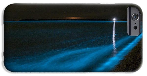 Plankton iPhone Cases - Bioluminescence In Waves iPhone Case by Philip Hart