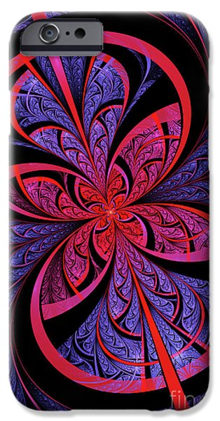 Fractals Fractal Digital Art iPhone Cases - Bipolar iPhone Case by John Edwards