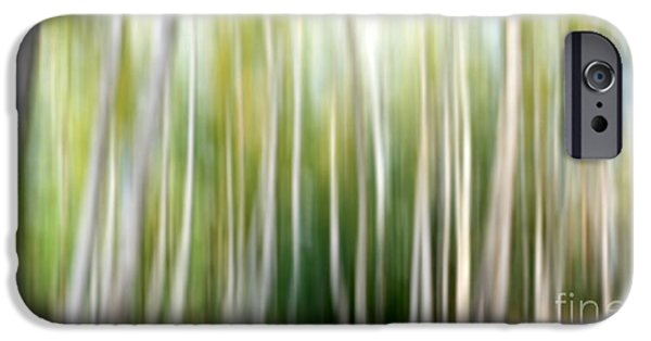 Abstract Digital iPhone Cases - Birch abstract iPhone Case by SK Pfphotography