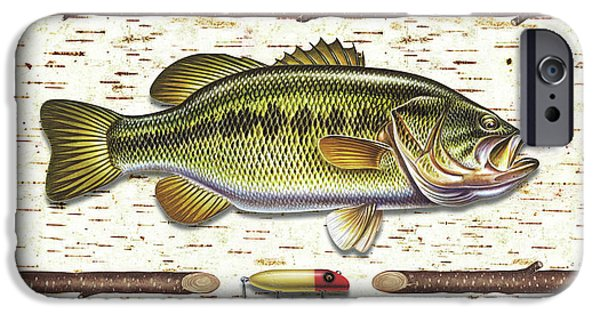 Tackle iPhone Cases - Birch Bass iPhone Case by JQ Licensing