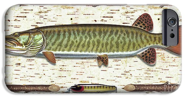 Musky Paintings iPhone Cases - Birch Musky iPhone Case by JQ Licensing