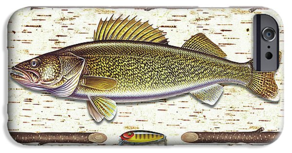 Tackle iPhone Cases - Birch Walleye iPhone Case by JQ Licensing