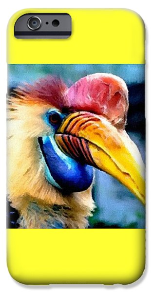 Business Pastels iPhone Cases - Bird Beauty - 3 H A iPhone Case by Gert J Rheeders
