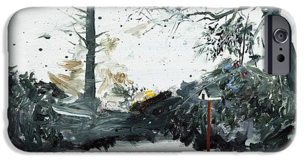 Cemetery Paintings iPhone Cases - Bird Box iPhone Case by Calum McClure