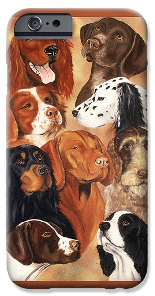 Setter Pointer iPhone Cases - Bird Dogs iPhone Case by Debbie LaFrance