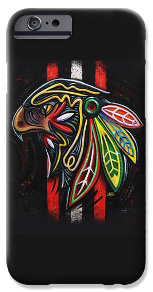 Hockey Art iPhone Cases - Bird Head iPhone Case by Michael Figueroa