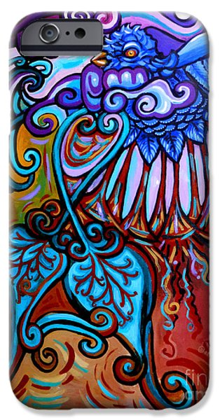 Stretched Canvas iPhone Cases - Bird Heart II iPhone Case by Genevieve Esson
