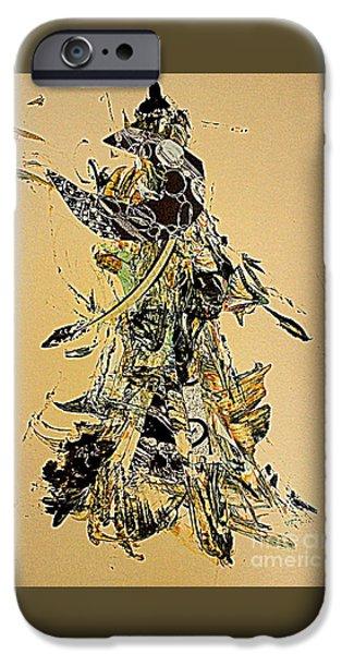 Figure iPhone Cases - Bird Maiden 2 iPhone Case by Nancy Kane Chapman