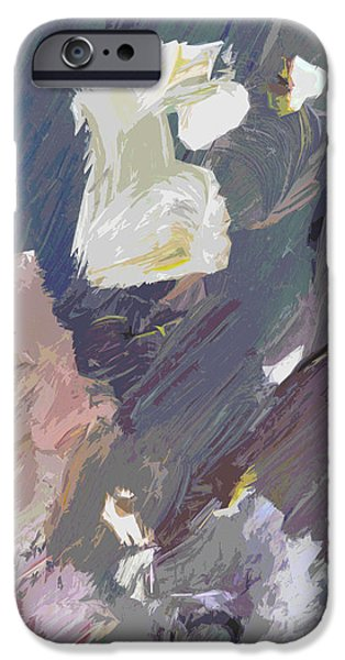Abstract Expressionism iPhone Cases - Bird Streets iPhone Case by David Lloyd Glover