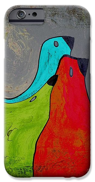 Lime iPhone Cases - Birdies - v110b iPhone Case by Variance Collections