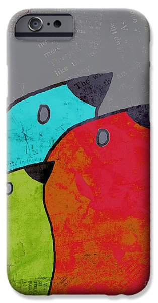 Lime iPhone Cases - Birdies - v11b iPhone Case by Variance Collections