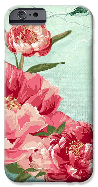 Blossom Mixed Media iPhone Cases - Birds of the Sky iPhone Case by Audrey Jeanne Roberts