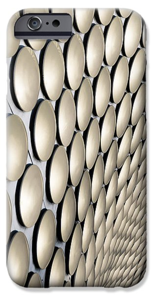 Disc iPhone Cases - Birmingham Abstract No. 8 iPhone Case by Chris Fletcher