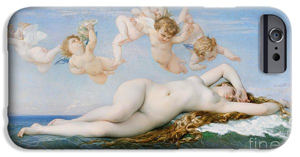 Best Sellers -  - Basket iPhone Cases - Birth of Venus iPhone Case by Alexandre Cabanel