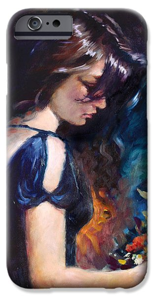 Portrait Art iPhone Cases - Birthday Girl iPhone Case by Ylli Haruni