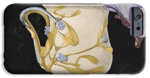 Art Nouveau Style iPhone Cases - Bistro Nouveau I iPhone Case by Mindy Sommers