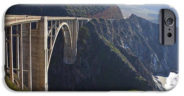 Bixby Bridge iPhone Cases - Bixby Bridge Crossing a Chasm iPhone Case by David Buffington