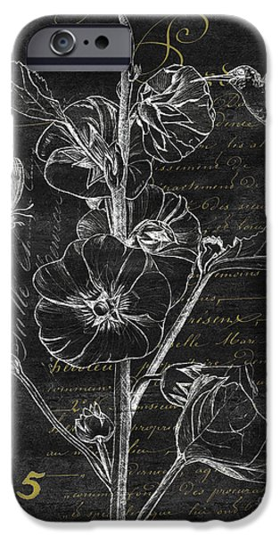 Flight iPhone Cases - Black and Gold Hummingbirds 1 iPhone Case by Debbie DeWitt