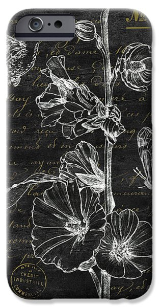 Flight iPhone Cases - Black and Gold Hummingbirds 2 iPhone Case by Debbie DeWitt