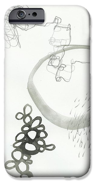 Drawing Paintings iPhone Cases - Black and White # 23 iPhone Case by Jane Davies