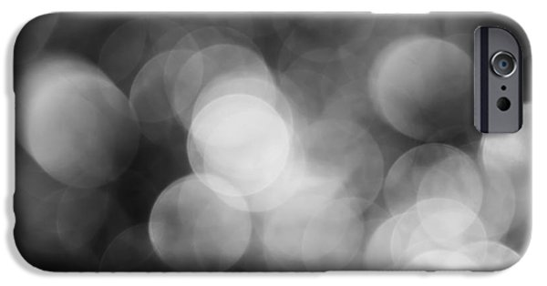 Corporate Art iPhone Cases - Black and White Bokeh iPhone Case by Jan Bickerton