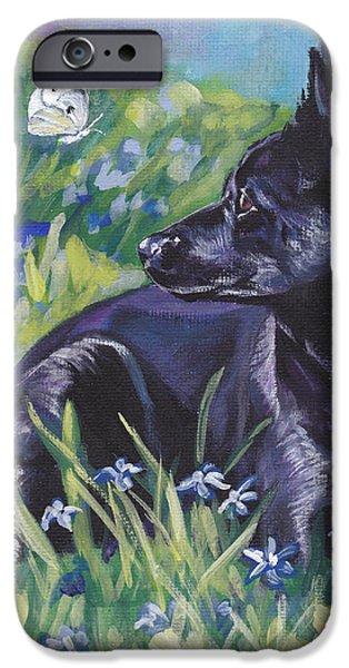 Black Australian Kelpie iPhone Case by Lee Ann Shepard
