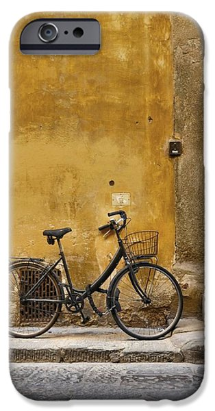 Fat Tire iPhone Cases - Black Bike iPhone Case by Patricia Strand